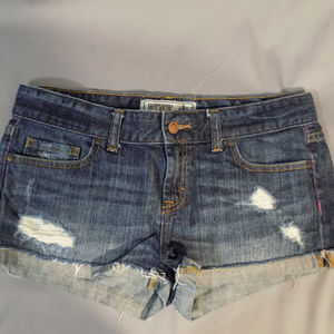 Pink from Victoria's secret distressed jean shorts